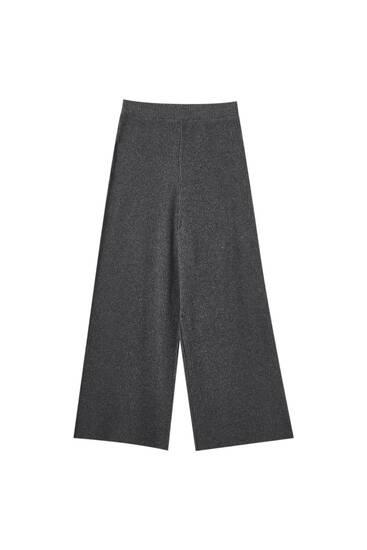 Calças culotte canalé