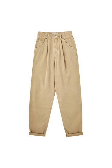 Slouchy cotton trousers