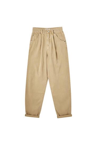 Pantalones slouchy algodón