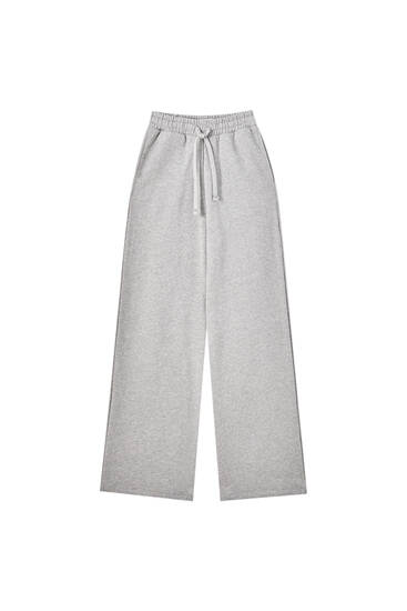 Straight-leg trousers with drawstring waistband
