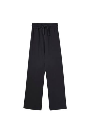 Wide-leg jogging trousers