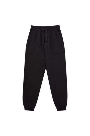 Pantalon jogger poches plaquées