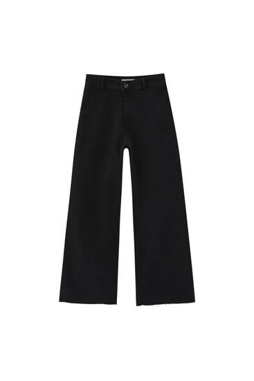 Culotte trousers - at least 50% ecologically grown cotton