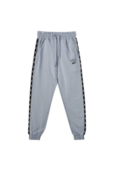 STWD sweatpants with contrasting stripes