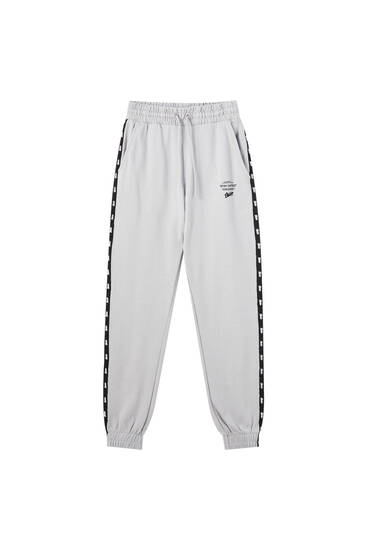 STWD joggers with contrast stripes