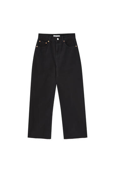Jeans rectos cropped