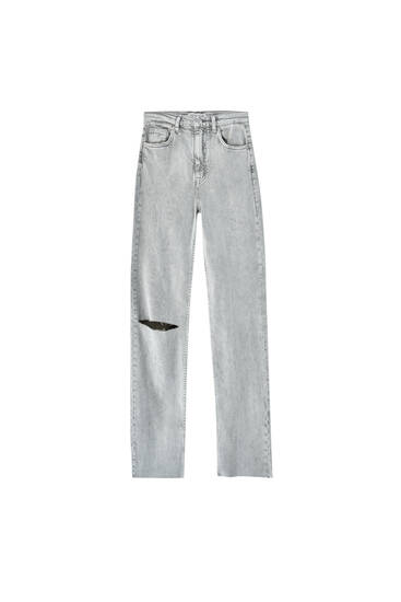 Straight-fit high-rise jeans