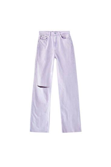 Jeans corte recto tiro alto
