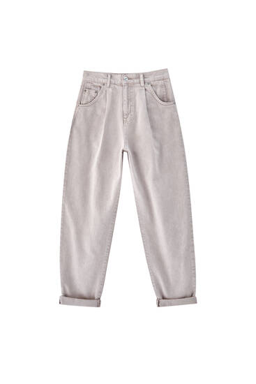 Slim fit slouchy trousers