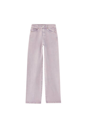Coloured wide-leg jeans