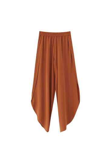 Flowing trousers with vents - contains viscose ECOVEROTM
