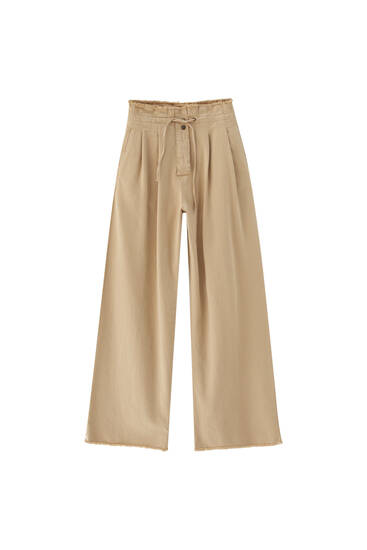 Bell bottom paperbag trousers
