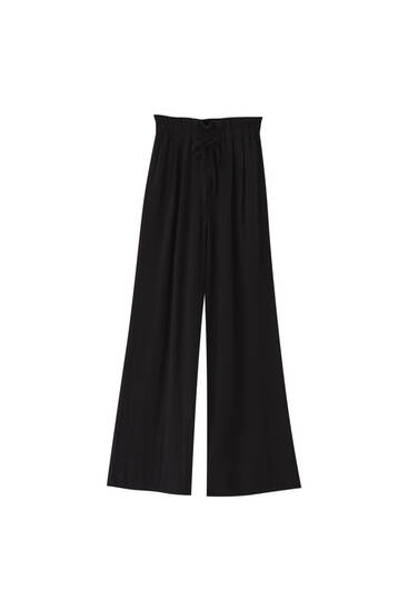 Rustic paperbag trousers
