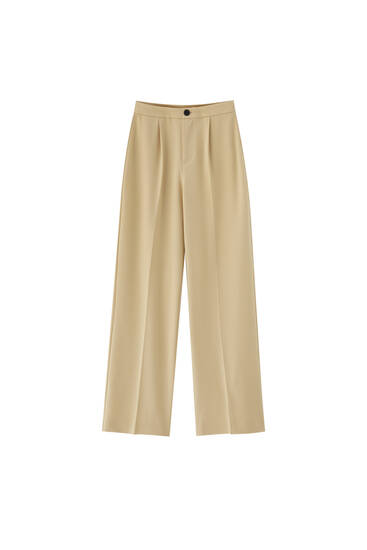 Wide-leg formal wear trousers