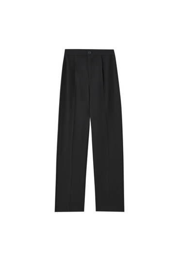 Darted formal trousers