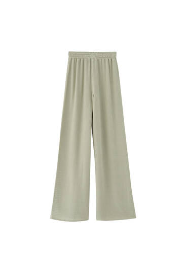 Flowing crepe trousers