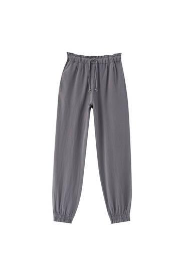 Rustic jogging trousers