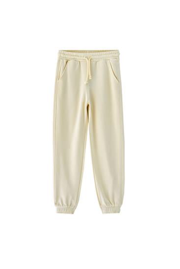 Pantalón jogger colores pastel
