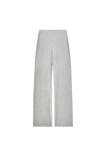 Pantalon jogger velours gris