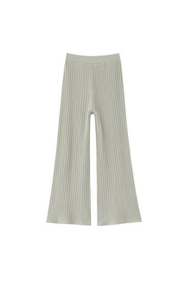 Pantalón culotte canalé