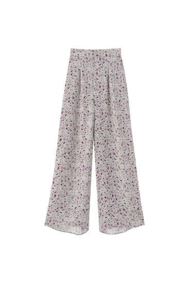 Calças culottes estampadas