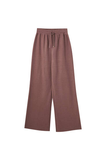 Brown soft-touch joggers