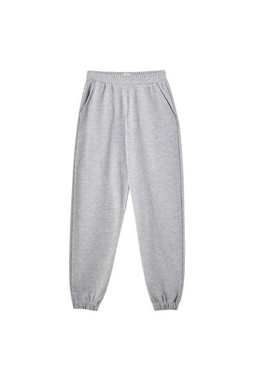 Soft touch joggingbroek met zakken