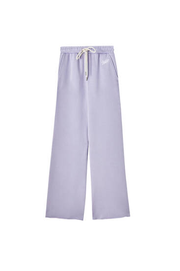 Wide-leg jogging trousers with drawstring