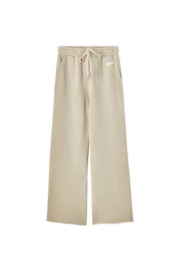 Pantalón jogger wide leg cordón