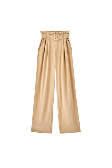 Flowing high waist trousers