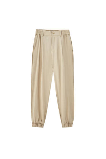 Darted jogger trousers