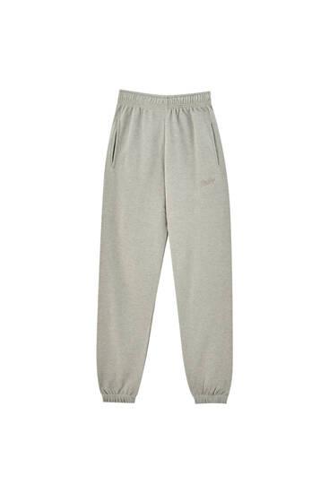 Pantalón jogger jaspeado