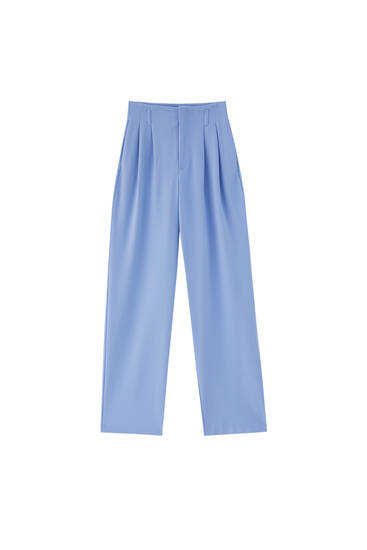 Formal trousers with double darts