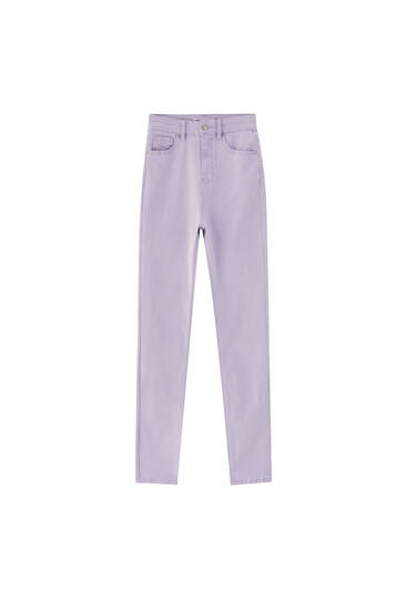 Colourful high-waist skinny trousers