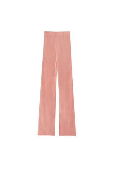 Openwork straight trousers