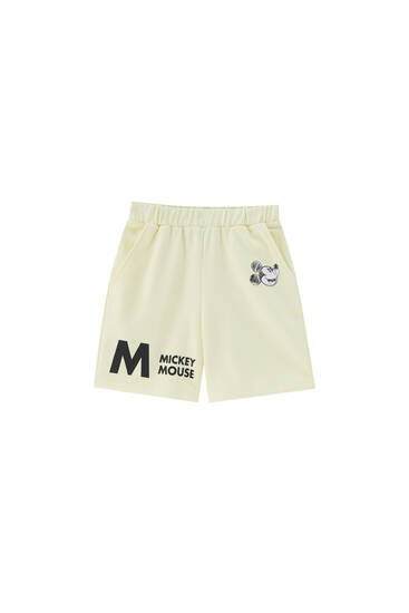 Mickey Mouse jogger Bermuda shorts - At least 65% ecologically grown cotton