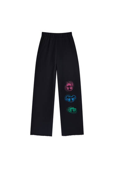 Wide-leg Powerpuff Girls trousers