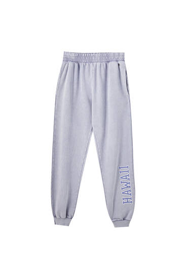 Pantalon jogger gris Hawaii