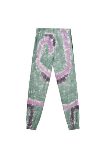 Pantalon jogger tie-dye