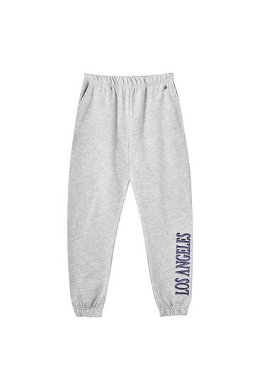 Pantalon jogger gris « Los Angeles »