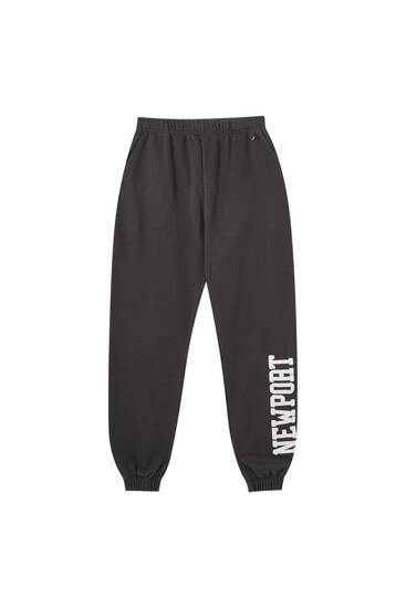 "Faded black ""Newport"" joggers"