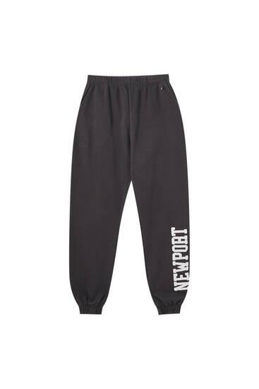 Pantalon jogger noir «Newport»