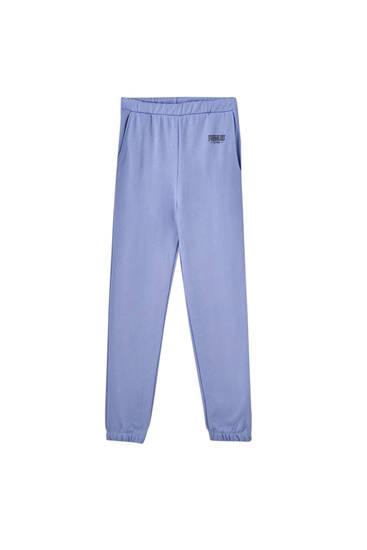 Blue Snoopy jogging trousers