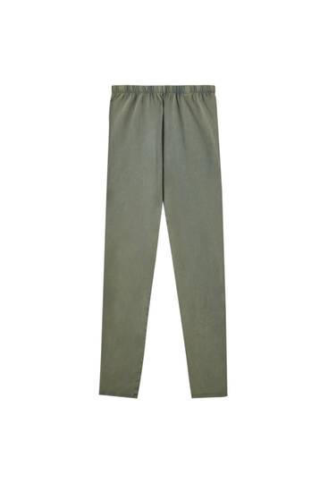 Faded green leggings