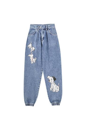 Slouchy 101 Dalmatians jeans