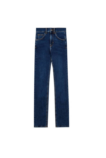 Basic cotton push-up jeans