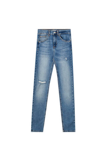 Basic katoenen push-up jeans