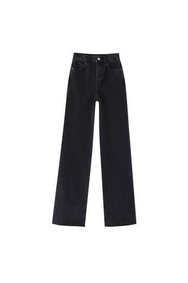 Ψηλόμεσο τζιν παντελόνι με ίσια γραμμή
