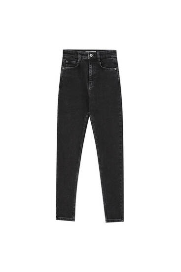 Premium skinny fit super high waist jeans