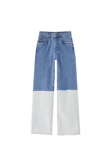 Jeans tie-dye flare